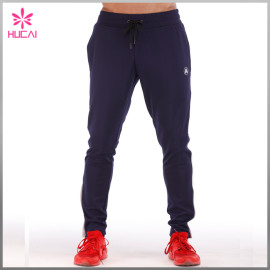 OEM Stretchy Polyester Tapred Track Pants Custom Jogging Pants Men