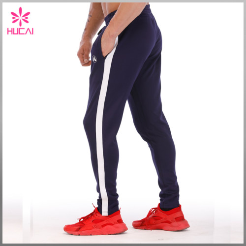 OEM Stretchy Polyester Tapred Track Pants Custom Jogging Pants Men
