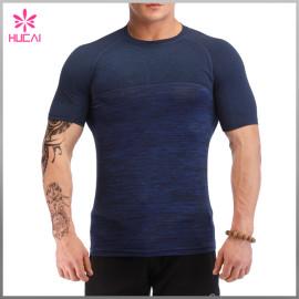 Wholesale Gym Clothing Short Sleeve Custom Men Compression Shirt