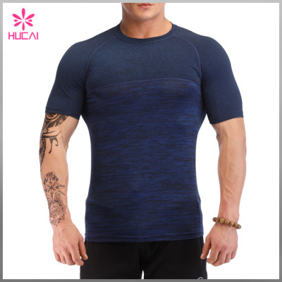 Wholesale Gym Clothing Short Sleeve Custom Men Compression Shirt