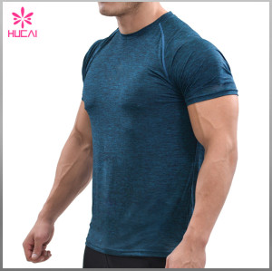 Wholesale T Shirt Gym Clothing Men Short Sleeve Training Top