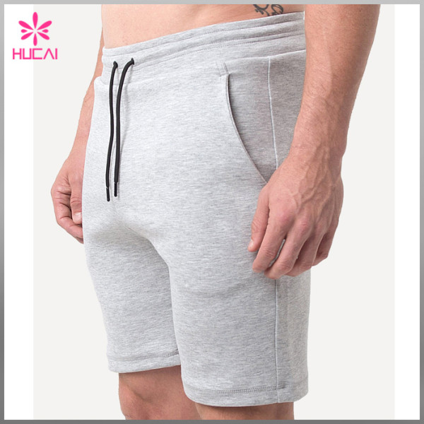 Custom Tapered Gym Wear Men Wholesale Blank Sweat Shorts