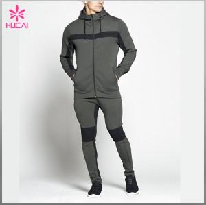 Wholesale Fleece Cotton Sportswear Custom Sports Track Suit For Men