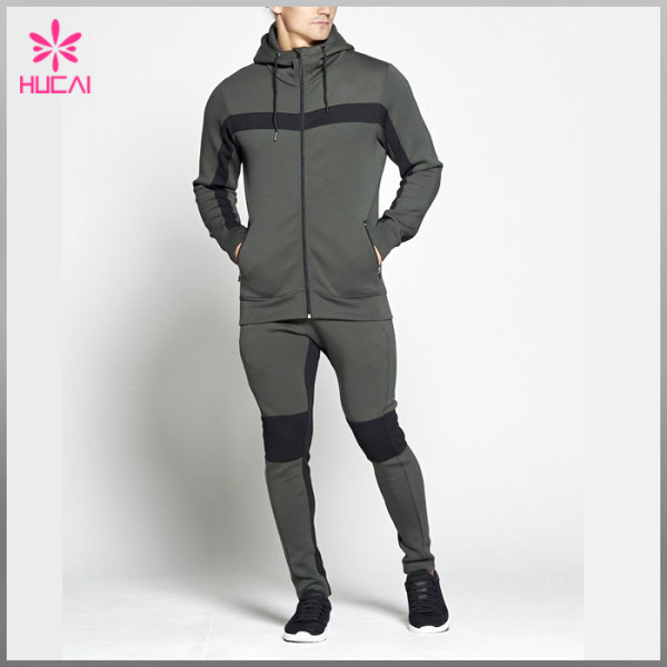 Wholesale Fleece Cotton Sportswear Custom Sports Track Suit For Men