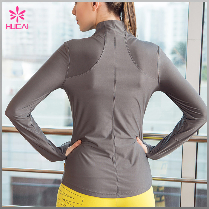Yoga Jacket With Thumb Hole