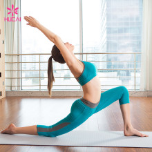 Custom Fitness Clothing Sports Bra And Leggings Dry Fit Women Yoga Wear Set
