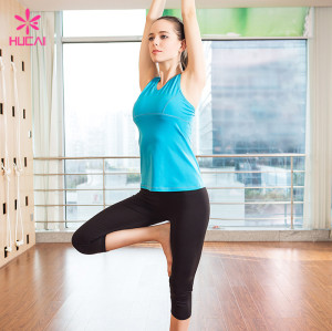 Wholesale Nylon Spandex Yoga Wear Women Padded Tank Top With Built In Bra