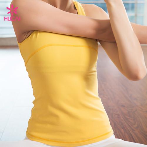 Custom Nylon Spandex Fitness Apparel Slim Fit Women Yoga Tops