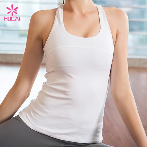 Wholesale Custom Nylon Spandex Tank Top Dry Fit Women Fitness Apparel