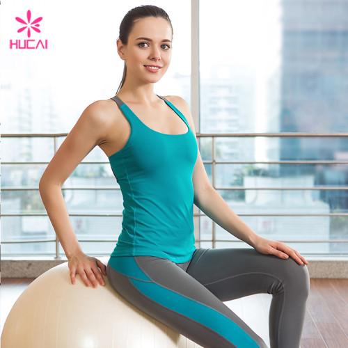 Wholeslae Nylon Spandex Round Neck Slim Fit Women Padded Yoga Top