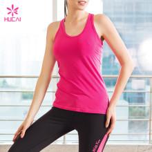 Wholesale Nylon Spandex Dry Fit Women Racerback Mesh Back Yoga Top