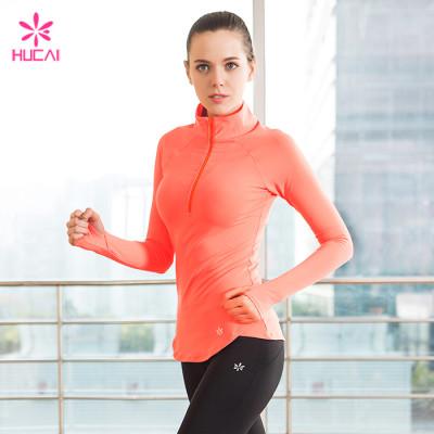Wholesale Nylon Spandex Sports Wear Activewear Dry Fit Women Gym Jacket