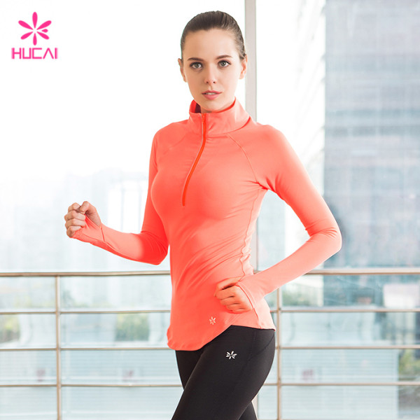 Wholesale Nylon Spandex Sports Wear Activewear Dry Fit Women Gym Jacket
