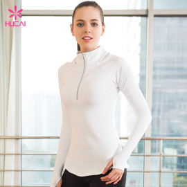 High Quality Nylon Spandex Half Zip Fitness Jacket Women Workout Clothes