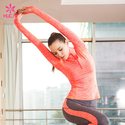 Wholesale Gym Shirt Jacket Dry Fit Long Sleeve Running Clothes Women