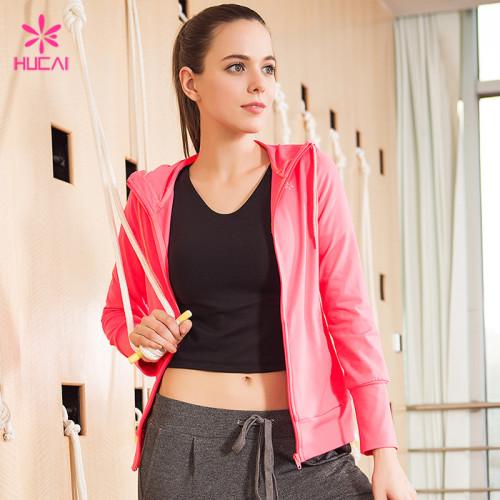 Wholesale Nylon Spandex Fitness Jacket Slim Fit Women Workout Apparel