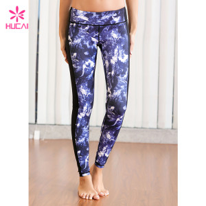 Custom Dry Fit Fitness Pants Sexy Women Printed Yoga Tights