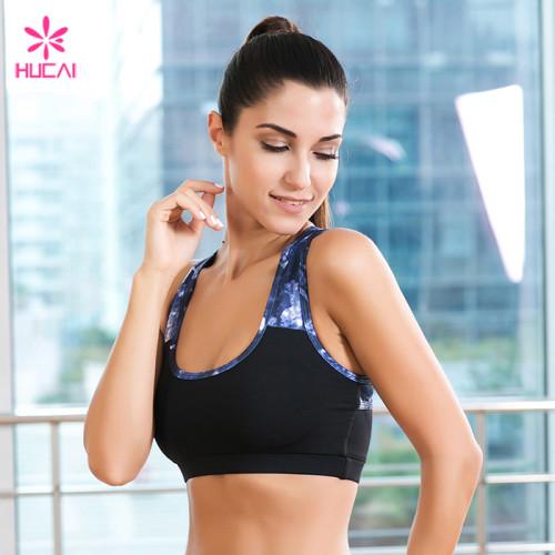 Wholesale Polyester Spandex Racerback Sports Wear Dry Fit Sublimation Women Yoga Bra