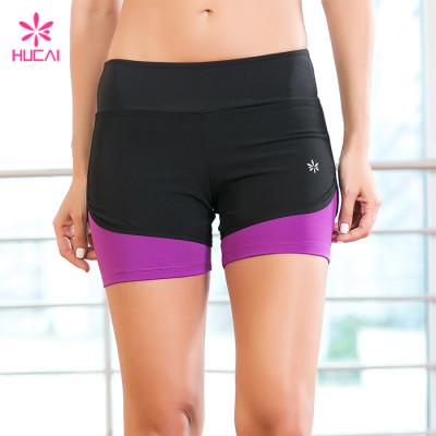 Wholesale Nylon Spandex Gym Wear Dry Fit Yoga Shorts For Women