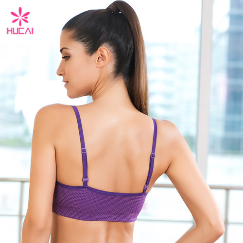 Wholesale Yoga Wear Strappy Digital Print Sports Bra For Women