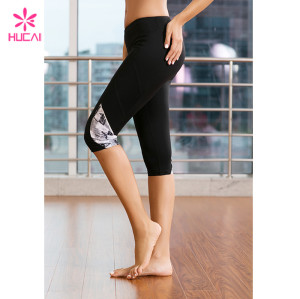 Wholesale Fitness Pants Gym Tights Dry Fit Women Printed Capri Yoga Leggings