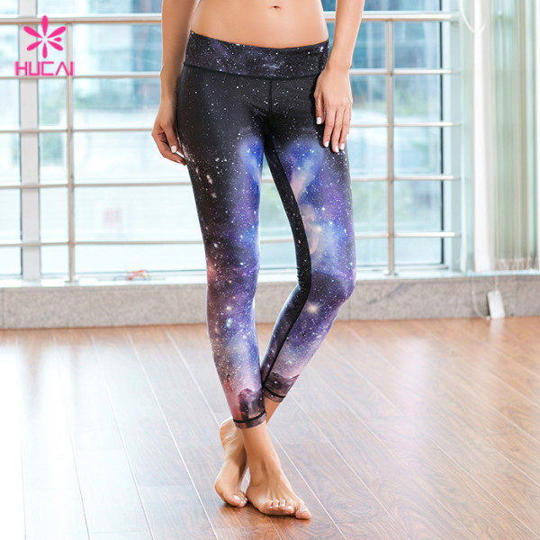 Wholesale Yoga Wear Leggings Women Full Length Printed Fitness Tights