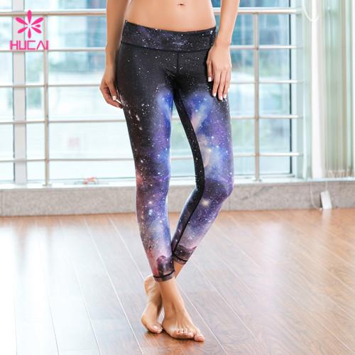 Wholesale Yoga Wear Leggings Women Full Length Printed Fitness Tights