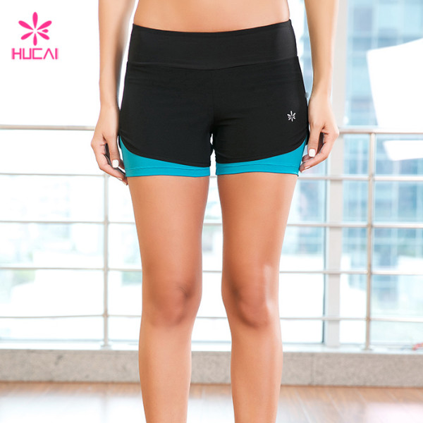 Wholesale Dry Fit Running Clothing Women Yoga Shorts With Lining