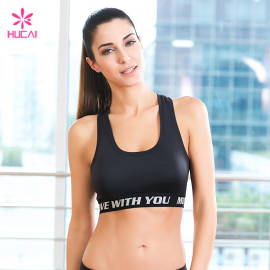 Wholesale Racerback Moisture Wicking Women Black Sports Bra