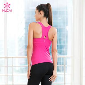 Custom Fitness Yoga Wear Tank Top Racerback Women Gym Yoga Top