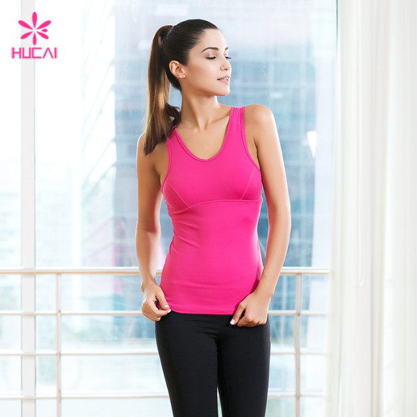 Custom Fitness Yoga Wear Tank Top Racerback Women Gym Yoga Top