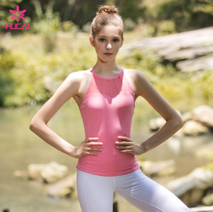 Wholesale X Back Strappy Light Pink Athletic Tank Top Sexy Women