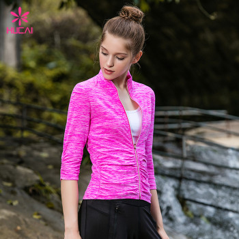 Custom Slim Fit Training Clothing Long Sleeve Athletic Jackets Women Wholesale