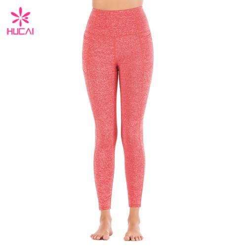 Wholesale Dry Fit Gym Tights Full Length Custom Athletic Leggings For Women