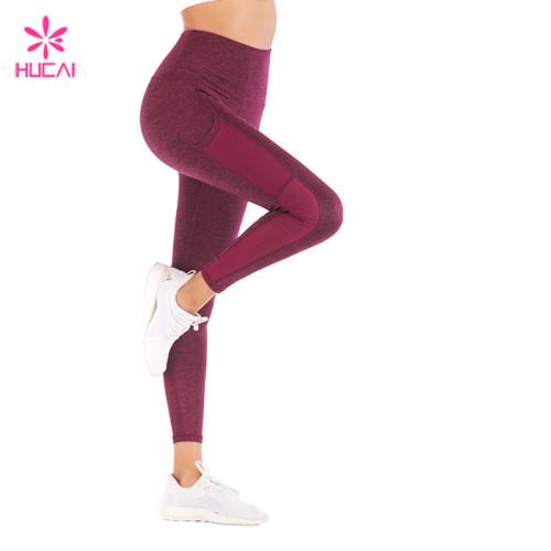 High Quality Yoga Wear Flatlock Stitching Dry Fit Women Mesh Panel Training Leggings