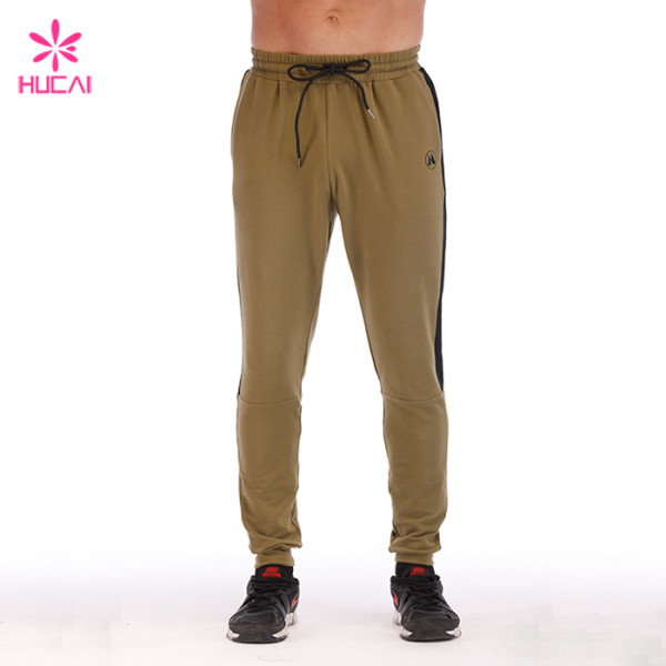 Wholesale Cotton Polyester Joggers Mens Plain Sweat Pants With Stripe