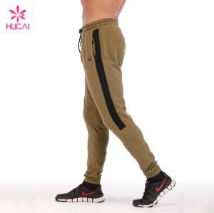 Wholesale Cotton Polyester Joggers Mens Plain Sweat Pants With Stripe