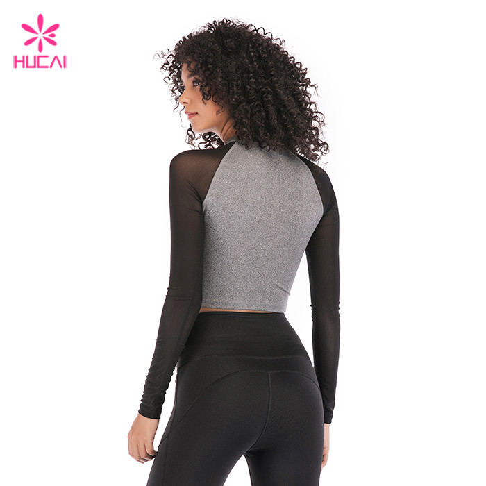 Plain Long Sleeve Crop Top