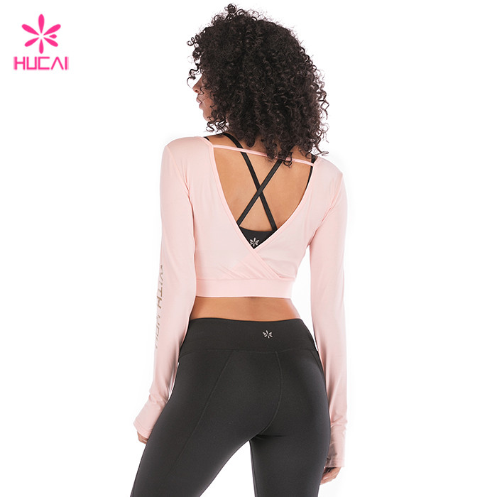 Slim Fit Crop Long Sleeve T Shirt