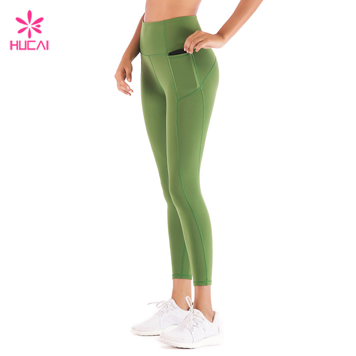 Olive Green Gym Tights