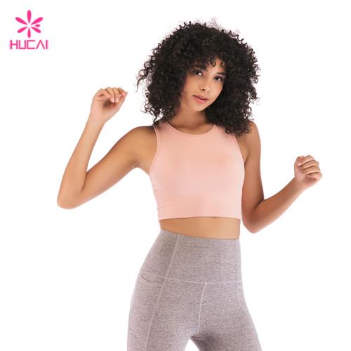 Wholesale Nylon Spandex Sports Bra Ladies Plain Crop Top In Bulk