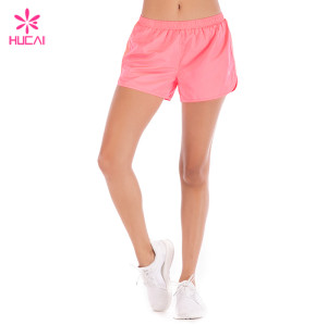 Hucai Training Clothing Loose Fit Mesh Insert Dry Fit Women Wholesale Running Shorts