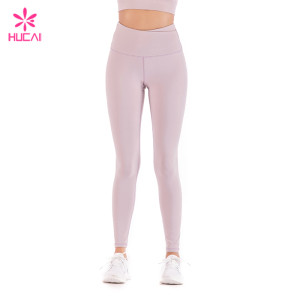 China Factory Nylon Spandex Leggings Wholesale Supplier Custom Yoga Pants Manufacturer