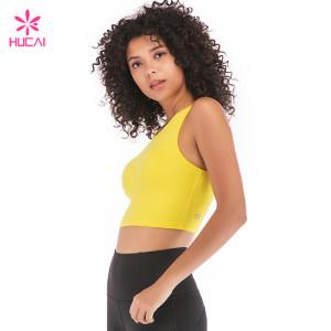 China Manufacturer Hucai Sportswear Wholesale Women Plain Customized Crop Top Supplier
