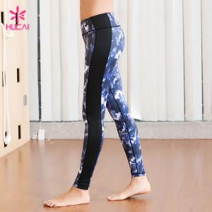 China Manufacturer Wholesale 86%Nylon 14%Spandex Women Sublimation Printed Yoga Pants Supplier