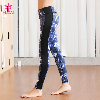China Manufacturer Wholesale 86%Nylon 14%Spandex Women Sublimation Printed Yoga Pants Supplier