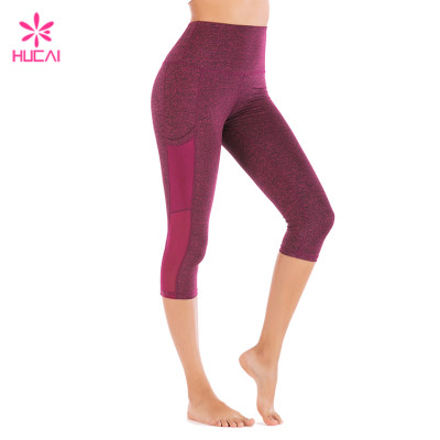 China Supplier Hucai Wholesale Yoga Wear With Side Pockets Custom Dry Fit Women Leggings Manufacturer