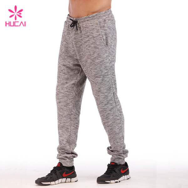 Hucai Supplier Custom Sweatpants Fleece Tech Mens Side Stripe Jogger Pants Manufacturer