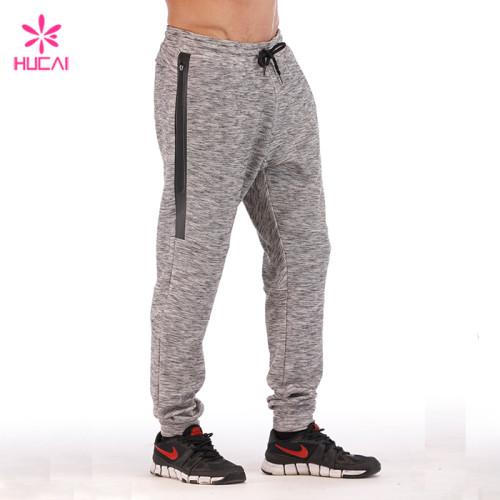 Hucai Supplier Custom Sweatpants Fleece Tech Mens Side Stripe Jogger Pants Manufacturer
