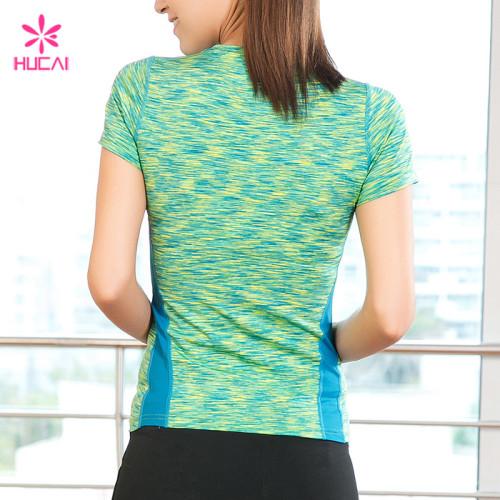 Wholesale Supplier Hucai Women Custom Fitness Shirts Manufacturer